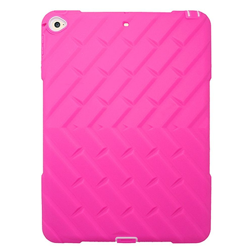 Insten Rubber Dual Layer Hard Cover Case For Apple iPad Air 2, Hot Pink/White