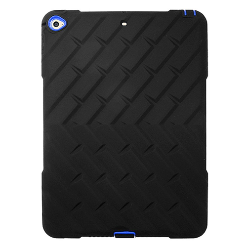 Insten Silicone Dual Layer Rubber Hard Case For Apple iPad Air 2, Black/Blue