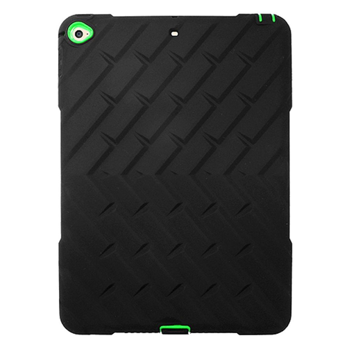 Insten Silicone Dual Layer Rubber Hard Cover Case For Apple iPad Air 2, Black/Green