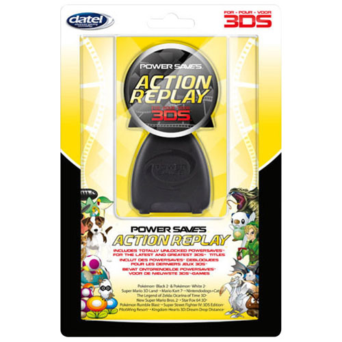 Système de triche Power Saves Action Replay de Datel pour 3DS - Noir