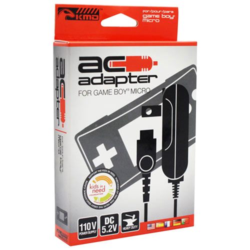 KMD AC Adapter for Gameboy Micro - Black