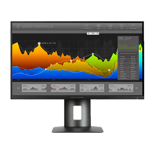 "HP 27"" WQHD 60 Hz 14 ms GTG LED Monitor - Black - (K7C09A8#ABA)"