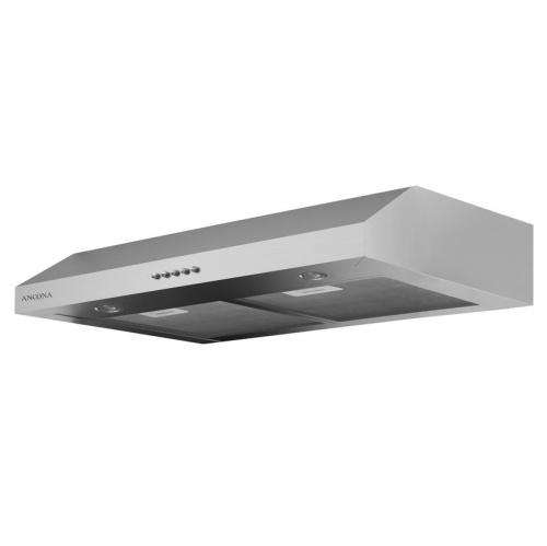 slim plus 30 30 in under cabinet range hood in stainless steel