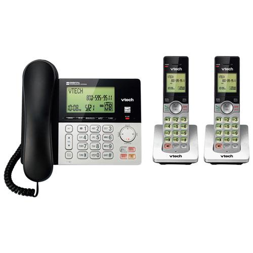 Téléphone ss fil 2 combinés DECT 6.0 identification appelant et répondeur de VTech - Arg