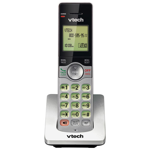VTech 1-Handset DECT 6.0 Cordless Phone Accessory Handset With Caller ID - Silver