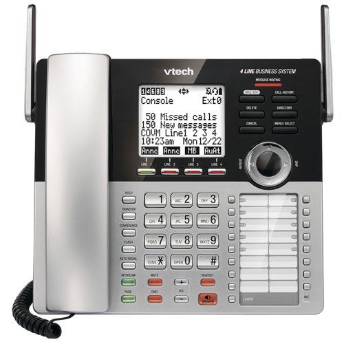 Système téléphonique avec fil DECT 6.0 à 1 combiné avec répondeur de VTech - Argenté