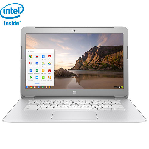 "HP 14"" Chromebook - Silver/White (Intel Celeron N2840/16GB eMMC/4GB RAM/Chrome OS) - English"
