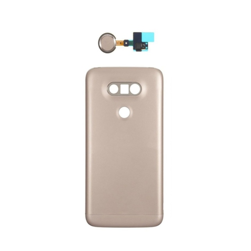 check out a5a9a fda49 LG G5 Back Door Battery Cover Replacement Housing With Home Button Flex  Cable - Gold