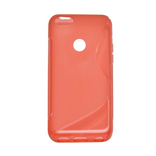 Google Pixel 5.0 Soft Gel S-line TPU Rubber Stylish Case - Red
