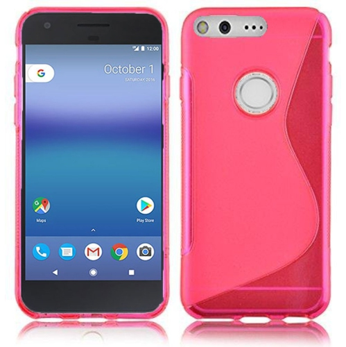 Google Pixel XL 5.5 Soft Gel S-line TPU Rubber Stylish Case - Pink