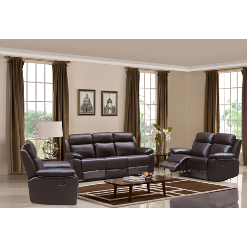 Husky Five Star Comfort Leo Collection 48PC Leather Air Reclining Sofa Set Brown Classy Online Living Room Furniture Shopping Collection