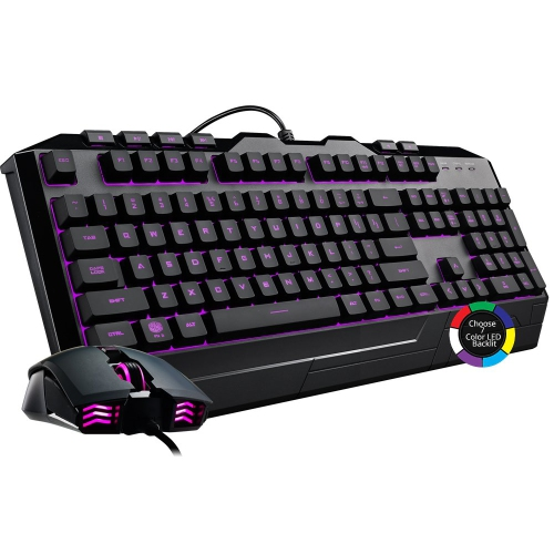 Cooler Master Devastator 3 Gaming Combo Keyboard and Mouse Featuring Seven Different LED Color Options