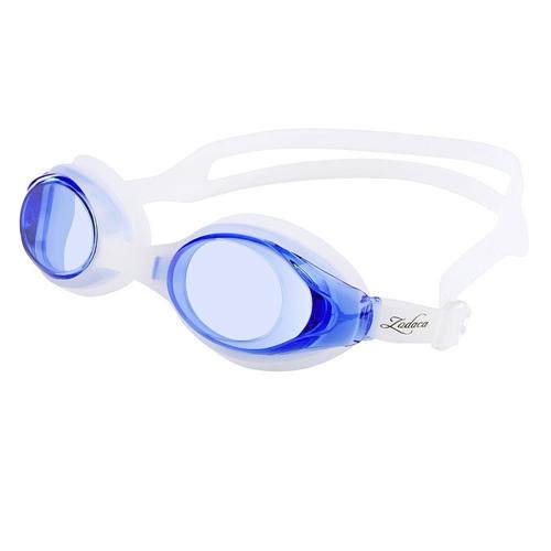 Zodaca Anti-fog Swimming Goggles for Kids, Dark Blue/White