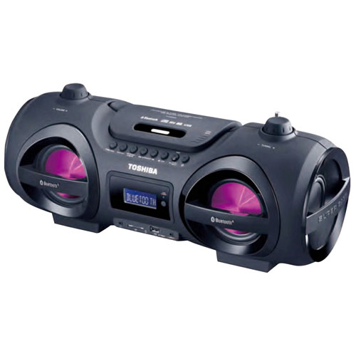 Minichaîne portative Bluetooth TY-CWU500 de Toshiba - Noir