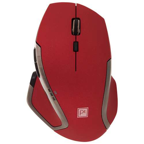 Platinum Wireless Laser Mouse - Red - Open Box