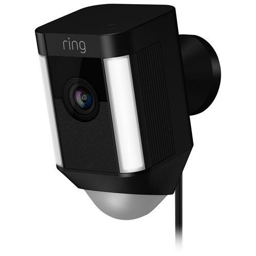 Ring Spotlight Wired Outdoor 1080p IP Camera - Black