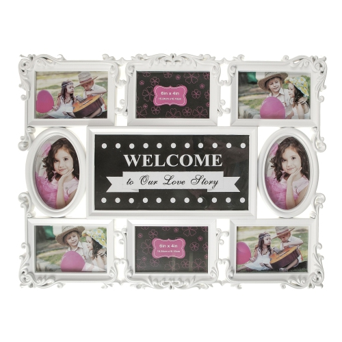Kozy Niche - White Photo Collage - Our Love Story : Picture Frames ...