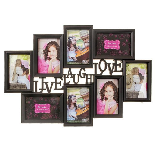 Kozy Niche - Black Photo Collage - Live Laugh Love : Picture Frames ...