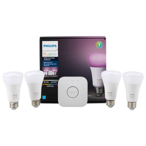philips hue white colour a19 starter kit smart lights best buy canada. Black Bedroom Furniture Sets. Home Design Ideas