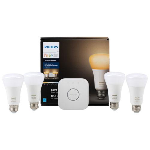 philips hue a19 smart bulb starter kit white ambiance. Black Bedroom Furniture Sets. Home Design Ideas