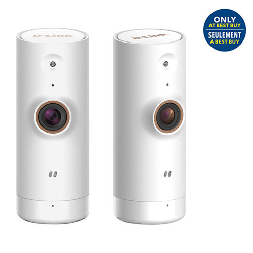 D-Link Wi-Fi Indoor Mini HD 720p Security Camera - 2 Pack - White - Only at Best Buy