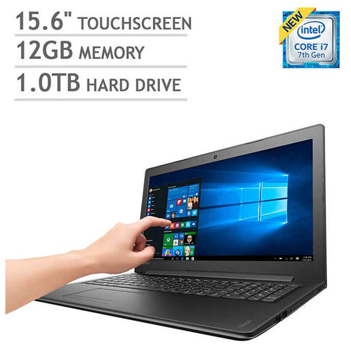 "Lenovo Ideapad 310 15"" Touchscreen Intel i7-7500U 12GB Memory 1 TB HDD Wireless AC BT 4.1 Windows 10 Home Laptop"
