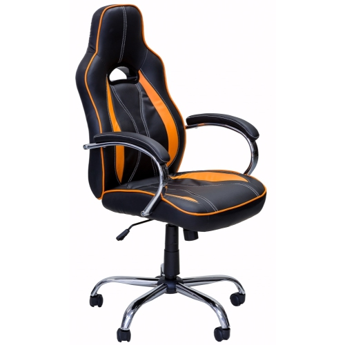 ViscoLogic Series Vortex Gaming Racing Style Swivel Office Chair (Black-Red)