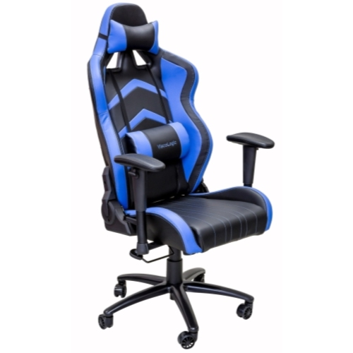 ViscoLogic LC 600 Gaming Racing Style Home Office Chair (Blue Black)