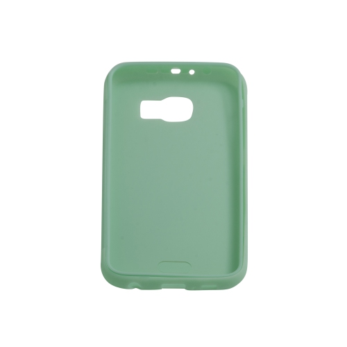 Samsung Galaxy S6 TPU Gel Case With Transparent Front Door - Green