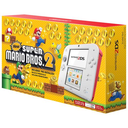 Ensemble Nintendo 2DS avec jeu New Super Mario Bros. 2 - Rouge écarlate