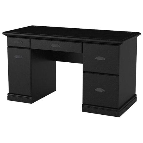Computer Desk With Drawers Black Ebony Ash Desks