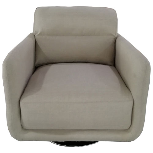 Amore Contemporary Tweed Swivel Accent Chair Cream
