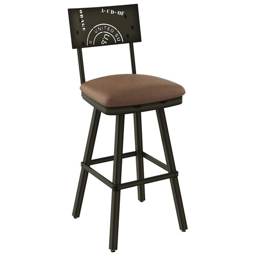 Outstanding Wilson Contemporary Bar Height Barstool Semi Transparent Medium Brown Gmtry Best Dining Table And Chair Ideas Images Gmtryco