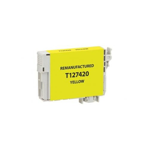Remanufactured Yellow Ink Cartridge for Epson T127420 (EPC27420)