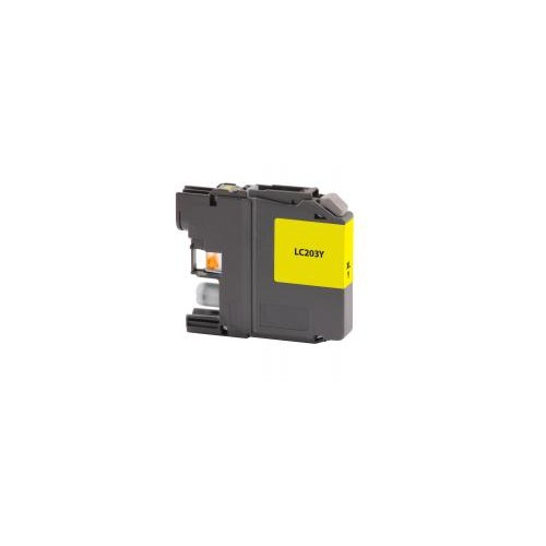 Remanufactured High Yield Yellow Ink Cartridge for Brother LC203 (DPCLC203YCA)