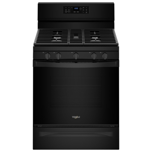 Whirlpool 30 5 0 cu ft self clean convection 5 burner free standing gas range wfg550s0hb - Clean gas range keep looking new ...