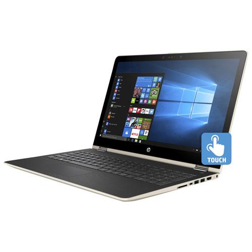 "HP Pavilion x360 15.6"" Touchscreen 2-in-1 Laptop - Silk Gold (Intel Pentium 4415U/1TB HDD/8GB RAM)"