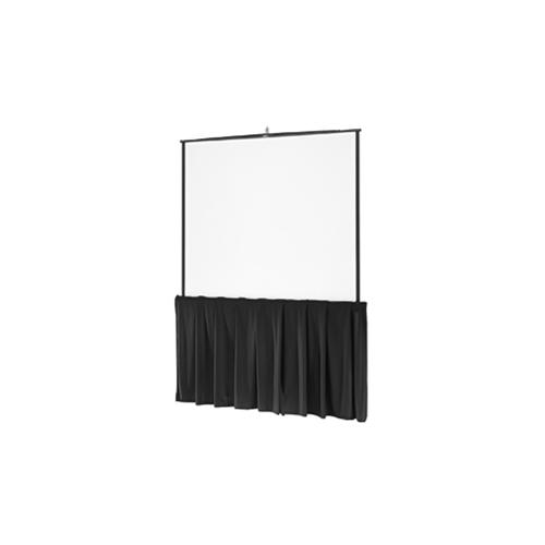 "Black Tripod Skirt Black Tripod Skirt for 60"" wide screens"