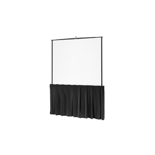 "Black Tripod Skirt Black Tripod Skirt for 70"" wide screens"