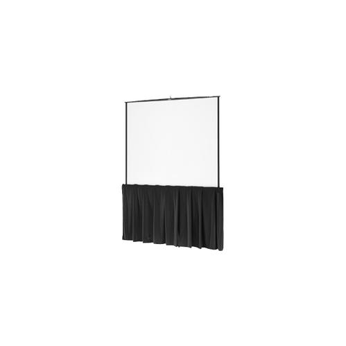 "Black Tripod Skirt Black Tripod Skirt for 96"" wide screens"