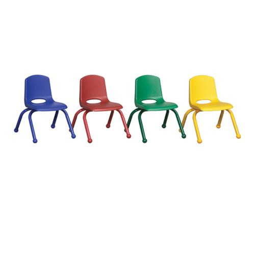 "ECR4Kids 10"" Stack Chair - Matching Leg-6pc-Assorted"