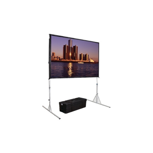 "High Contrast Da-Tex Rear Projection Fast-Fold Deluxe Complete Screen 56"" x 96"" Area 51"" x 91"""
