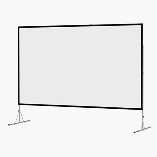 "Dual Vision Front and Rear Projection Fast-Fold Deluxe Complete Screen 72"" x 72"" Area 67"" x 67"""