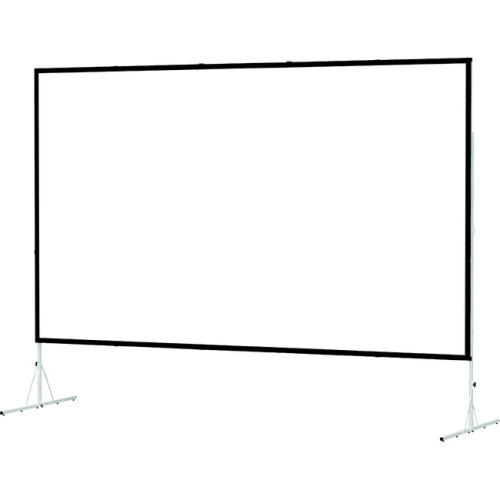 "Dual Vision Front and Rear Projection Fast-Fold Deluxe Complete Screen 69"" x 108"" Area 64"" x 103"""