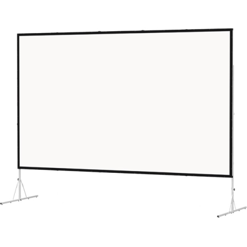 "Dual Vision Front and Rear Projection Fast-Fold Deluxe Complete Screen 69"" x 120"" Area 64"" x 115"""