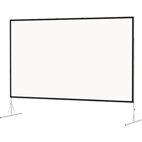 """Dual Vision Front and Rear Projection Fast-Fold Deluxe Complete Screen 77"""" x 120"""" Area 72"""" x 115"""""""