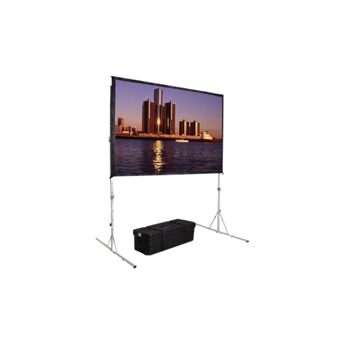 "Dual Vision Front and Rear Projection Fast-Fold Deluxe Complete Screen 92"" x 144"" Area 87"" x 139"""