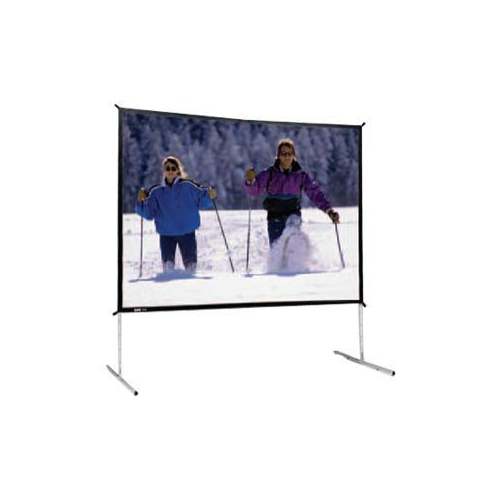 "Dual Vision Front and Rear Projection Fast-Fold Deluxe Complete Screen 12' x 12' Area 139"" x 139"""