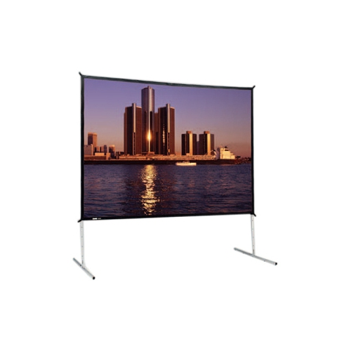 "Dual Vision Front and Rear Projection Fast-Fold Deluxe Complete Screen 10'6"" x 14' Area 121"" x 163"""