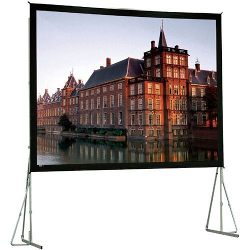 High Contrast Da-Tex Rear Projection Heavy Duty Fast-Fold Deluxe Complete Screen System 13' x 17' Area 12' x 16'